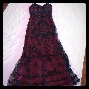 Semi/Formal Full Length Dress with Beaded Detail.